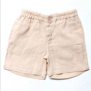 Caramel Barbican 100% Linen Shorts 4T
